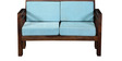 Alicante Two Seater Sofa in Provincial Teak Finish by Woodsworth