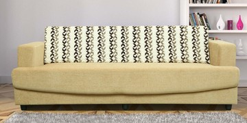 Alen Three Seater Sofa In Beige Colour By Sofab