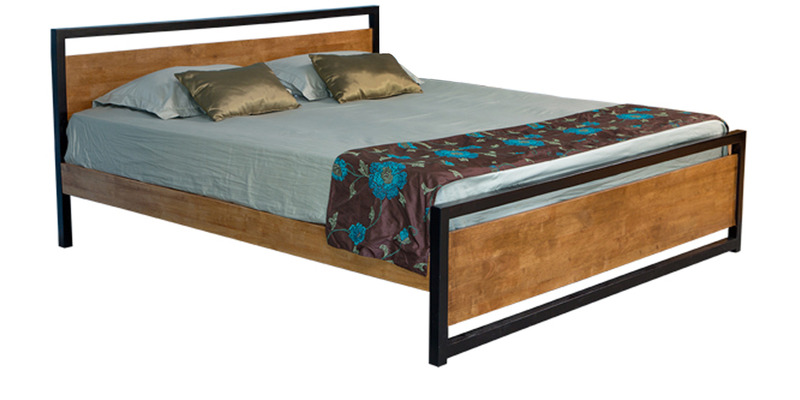 Alex Two Toned King Size Bed by Forzza