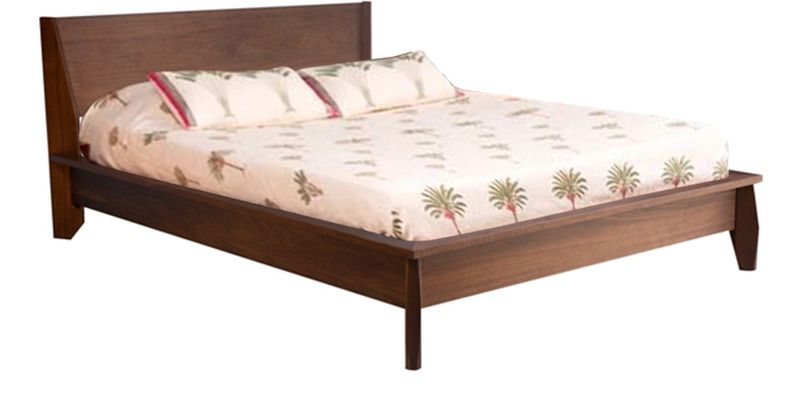 Alpha King Bed in Walnut Colour by Forzza