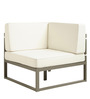 Albert One Seater Corner Sofa in White Colour by Asian Arts