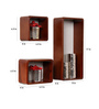 Aldene Contemporary Wall Shelves Set of 3 in Brown by CasaCraft