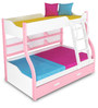 Alex Daisy Columbia Bunk with Trundle Bed - Pink