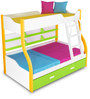 Columbia Bunk with Trundle Bed in Yellow Green by Alex Daisy