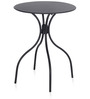 Alfredo Round Table in Black Colour by Nilkamal