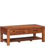 Logan Coffee Table with Drawer in Warm Walnut Finish by Woodsworth