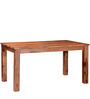 Logan Six Seater Dining Table in Warm Walnut Finish by Woodsworth