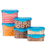 All Time Delite Blue Rectangle Storage Container - Set of 6