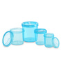 All Time IRIS Blue Cylindrical Storage Container - Set of 4