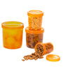All Time IRIS Orange Cylindrical Storage Container - Set of 4