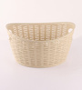 All Time Plastic Beige 9 L Cresta Oval Basket