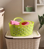 All Time Plastic Green 500 ML Tote Basket - Set of 3