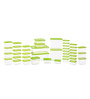 All Time Polka Green Rectangle Storage Container - Set of 42