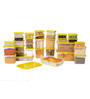 All Time Polka Yellow Rectangle Storage Container - Set of 31