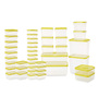 All Time Polka Yellow Rectangle Storage Container - Set of 42