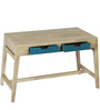 Allen Kids Study Table in off White & Blue Colour by DwellDuo