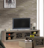 Almanzo Entertainment Unit in Belgian Oak and Solid Grey Finish by CasaCraft