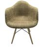 Alondro Cushion Accent Chair (Set of 2) in Light brown Colour by CasaCraft