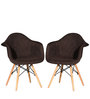 Alondro Cushion Accent Chair (Set of 2) in Umber Brown Colour by CasaCraft