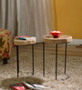 Pagosa Set Of Tables in Natural Finish by Bohemiana