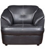 Alto One Seater Leatherette Sofa in Black Colour by Star India