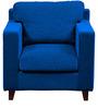 Alton One Seater Sofa in Dark Blue Colour by Forzza