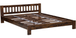 Amarillo Queen Size Bed in Provincial Teak Finish by Woodsworth