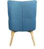 Amancio Wing Chair in Blue Colour by CasaCraft