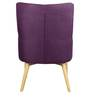 Amancio Wing Chair in Purple Colour by CasaCraft