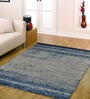 Ambadi Blue Polypropylene Solid Carpet