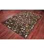 Ambadi Coffee Brown Polypropylene Modern Carpet