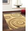 Ambadi Brown Polypropylene Modern Carpet