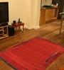 Ambadi Orange Polypropylene Solid Carpet