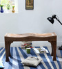 Ambar Handcrafted Small Bench in Provincial Teak Finish by Mudramark