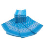 Amber Polka Blue Cotton Towels - Set of 14