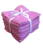 Amber Velour Pink Cotton Face Towel - Set of 4