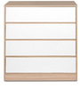 Ambra Chest Of Four Drawers in White Colour by HomeTown