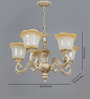 Amelia Chandelier in Brown & White by Amberville