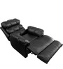 Amet Manual Recliner in Black Colour by Little Nap Designs
