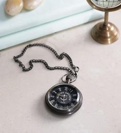 Anantaran Black Brass Antiques Pocket Watch Chain