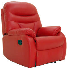 Ancona One Seater Recliner Chair in Red Colour by Furnitech