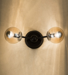 Anemos Black Metal & Glass Wall Lamp