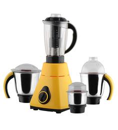 Anjalimix Amura 1000W Yellow Mixer Grinder With 4 Jars