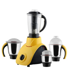 Anjalimix Corby 750W Yellow Mixer Grinder With 4 Jars