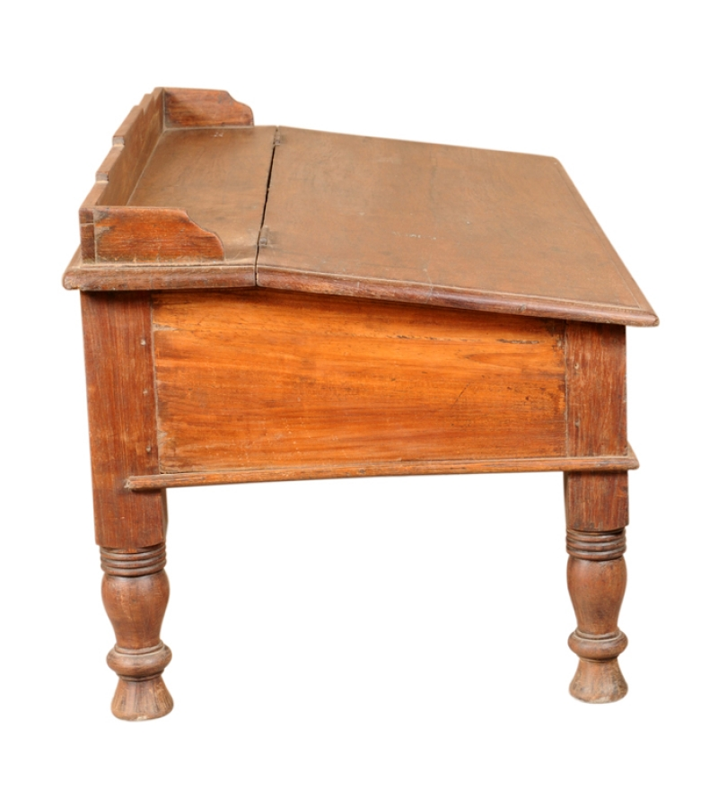 Rangilo Rajasthan Antique Teak Wood Writing Desk By