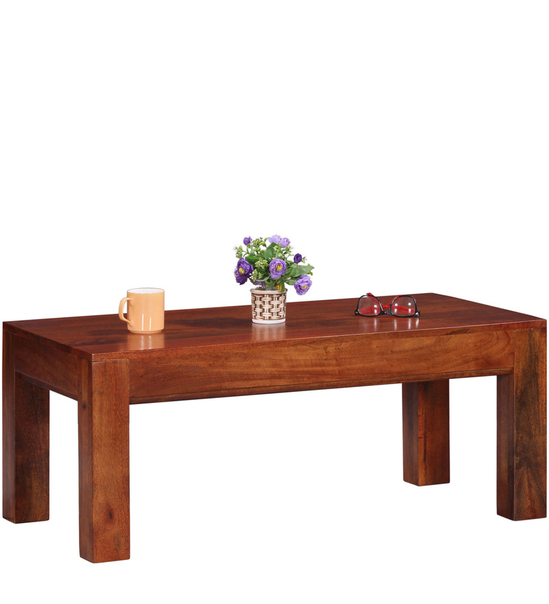 Buy lacanoia mango wood minimalist coffee table in honey oak finish by woodsworth online Honey oak coffee table