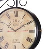 Anantaran Black Iron Double Side Wall Clock