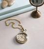 Anantaran Gold Yellow Brass Pocket Watch Chain Nautical Anchor Pocket Watch Chain
