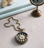 Anantaran Brown Brass Handcraft Pocket Watch Chain