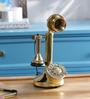 Anantaran Gold Yellow Brass Candlestick Table Retro Telephone
